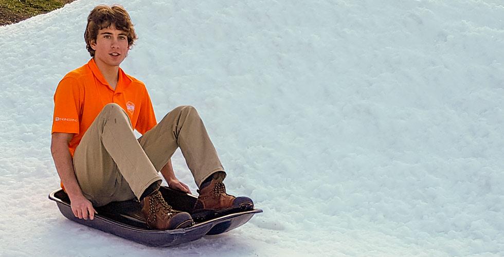 Cody Knight at Snow Tubing Center Opening at Ober Gatlinburg